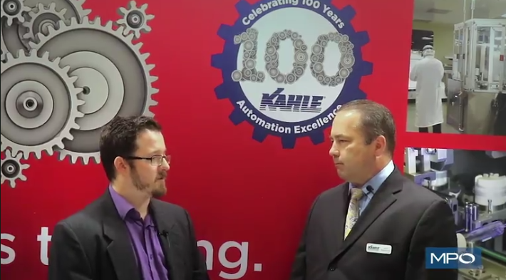 Sam Brusco, associate editor of MPO, speaks with John Wuschner, VP of engineering/quality at Kahle Automation