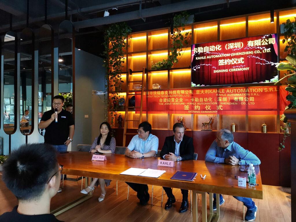 Kahle automation announces joint venture with Shenzhen Wolf-tech Technology Co., Ltd