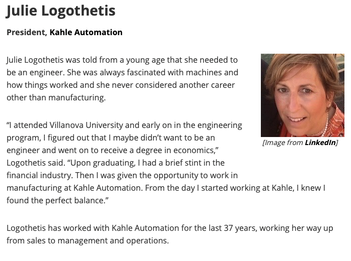 Julie Logothetis LinkedIn